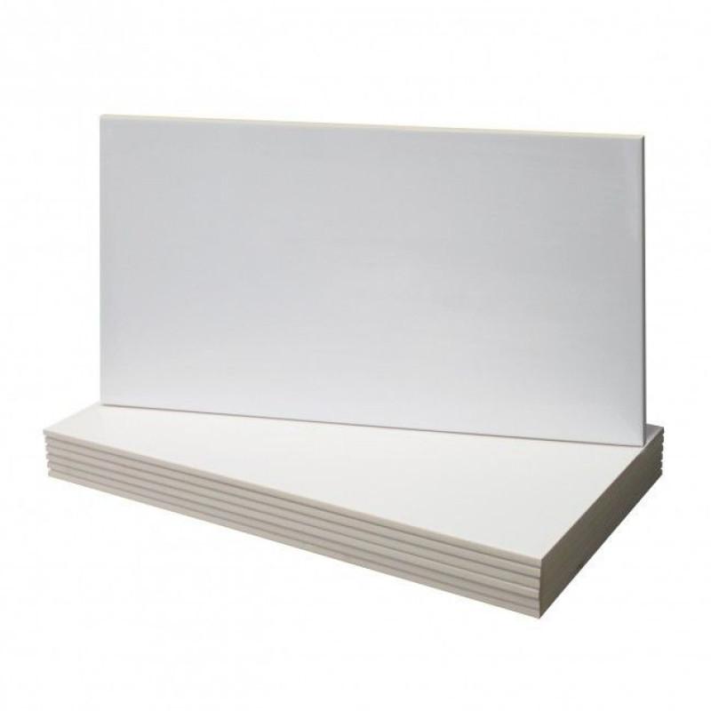 Progetto wandtegel 29x59,3cm, glans wit (gerectificeerd)