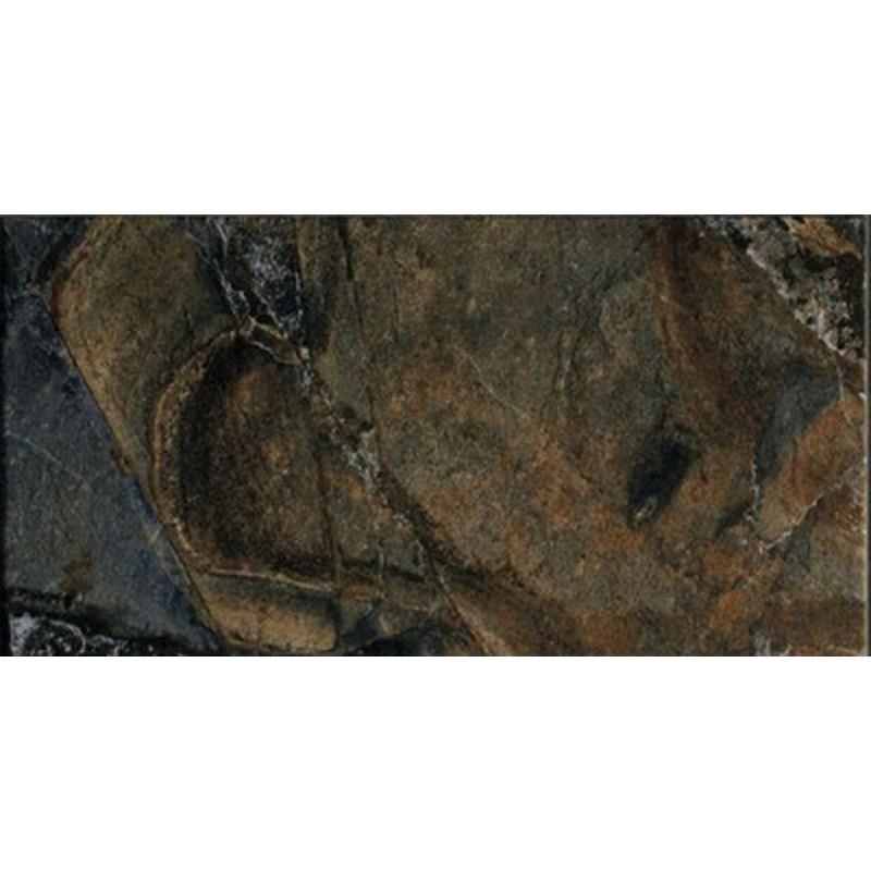 Rondine mystique marbella rustiek black vloertegel 30.5x60.5cm, zwart