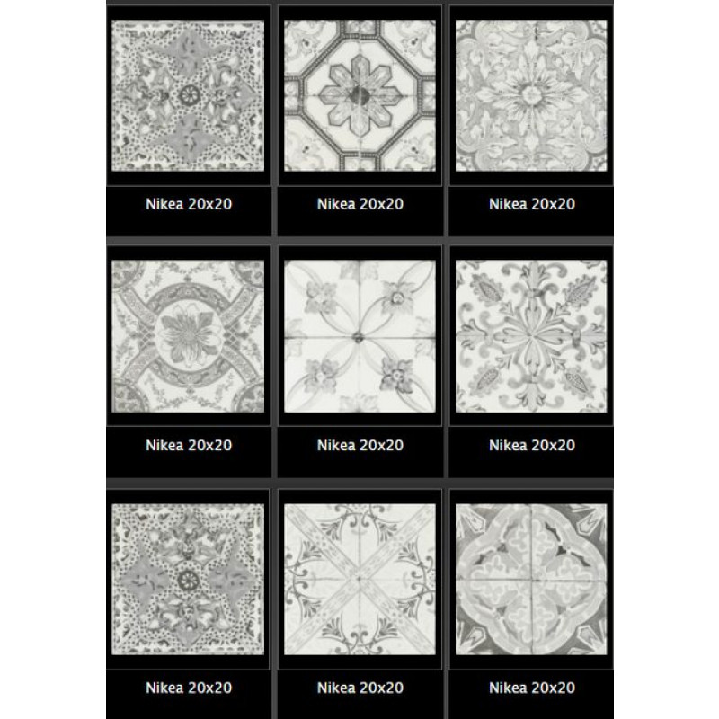 Nikea Sepia Grijs Mat Portugese mix Vloer-/Wandtegel 20,0x20,0 cm