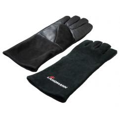 Landmann leren bbq handschoen lang manchet s/2