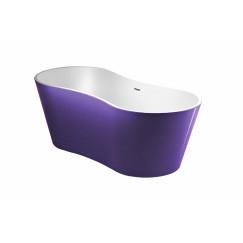 "Best-Design ""Color-Purplecub"" vrijstaand bad 174x77x58cm"