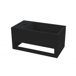"""Best-Design """"Mona-Black-Links"""" fontein incl.handdoekhouder """"Just-Solid"""" 33x18x16cm"""