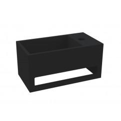 """Best-Design """"Mona-Black-Rechts"""" fontein incl.handdoekhouder """"Just-Solid"""" 33x18x16cm"""