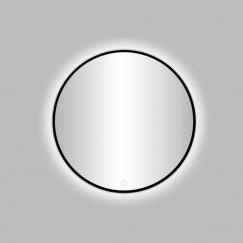 """Best-Design Nero """"Venetië"""" ronde spiegel zwart incl.led verlichting Ø 80 cm"""