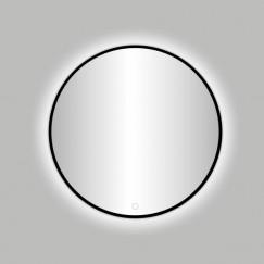 """Best-Design Nero """"Venetië"""" ronde spiegel zwart incl.led verlichting Ø 100 cm"""