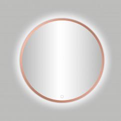 "Best-Design Lyon ""Venetië-Thin"" ronde spiegel Rosé-Mat-Goud incl.led verlichting Ø 80 cm"
