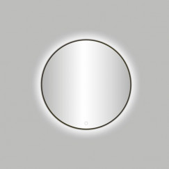 "Best-Design Moya ""Venetië-Thin"" ronde spiegel Gunmetal incl. led verlichting Ø 60 cm"