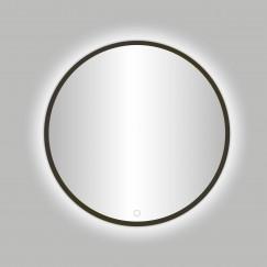 "Best-Design Moya ""Venetië-Thin"" ronde spiegel Gunmetal incl. led verlichting Ø 80 cm"