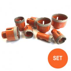 Tegelboren set 20, 27, 35, 40, 45, 50, 60, 68 mm. M14 FPTSET-06