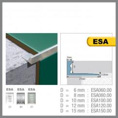 Genesis tegelprofiel esa060.81 aluminium recht 6mm, mat zilver