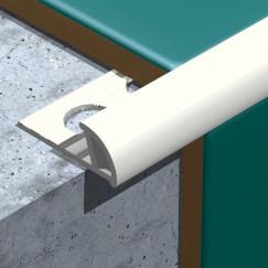 Genesis tegelprofiel pvc rond 6mm, wit