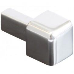 Genesis buitenhoek ecg100.91 aluminium recht, ronde hoeken 10mm per 4 stuks, glans zilver