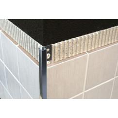 Genesis tegelprofiel tmg080.81 aluminium vierkant 8mm, mat zilver