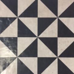 Vloertegels barroco negro 004 22,5x22,5 p/st
