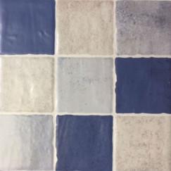 Vloertegels arezzo mosaico azul 22,5x22,5 p/st