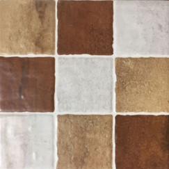 Vloertegels arezzo mosaico cotto 22,5x22,5 p/st