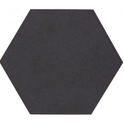 Vloertegels esagono nero 25,0x29,0