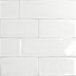 Wandtegels mayolica white 7,5x30