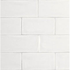 Wandtegels mayolica matt white 7,5x15