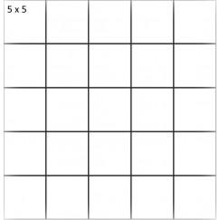 Mozaiek mosaico 5x5 bera white 29,8x29,8