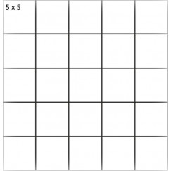 Mozaiek mosaico 5x5 beren coal 29,8x29,8
