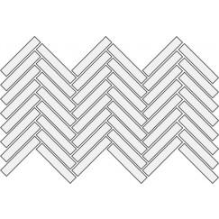 Mozaiek spike mosaic ground black 29,4x43,6