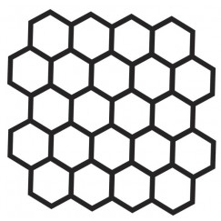 Mozaiek hexa mosaic ground black 26,5x27,6