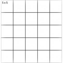 Mozaiek mosaico 5x5 beren dark grey abujard, 29,8x29,8