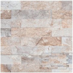 Wandtegels interlock farilya grey-creme 25,0x45,0 cm