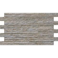 Wandtegels interlock yali grey 25,0x45,0 cm