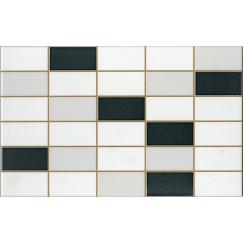 Wandtegels softline wit/antra mozaiek 25,0x40,0
