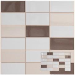 Wandtegels softline perg/wenge mozaiek 25,0x40,0