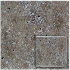 Natuursteen travertino noce 10,0x10,0