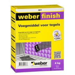 Voeg weber wd finish voeg protect wit 4 kg (n, vpk)