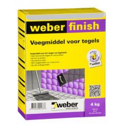 Voeg weber wd finish protect li,grijs 4 kg(n, vpk)