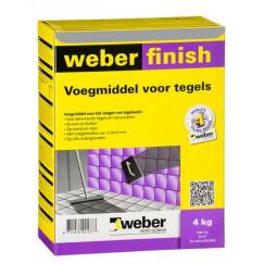 Voeg weber wd finish voeg protect grijs 4 kg(n, vpk)