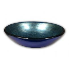 Laqua Modello Waskom gehard glas blue/blauw D42cm lavabo
