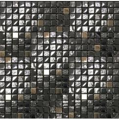 Mozaiek mos 15mm edel schwarz 30x30cm