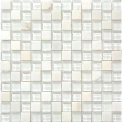 Mozaiek mos 23mm bianco puro 30x30cm
