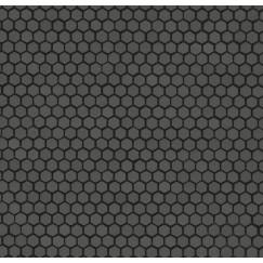 Mozaiek mos textures esagono grigio medio 30x30cm