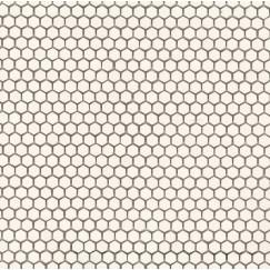 Mozaiek mos textures esagono white 30x30cm