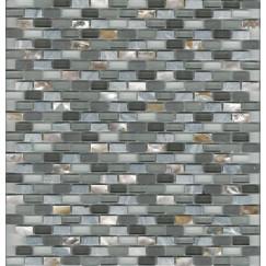 Mozaiek mos miniperla grey 30x30cm