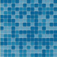 Mozaiek a31/32/33 mix licht bl, 2x2cm papier buitenzijd