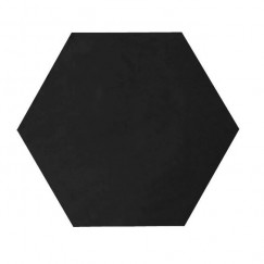 Kashba Marrakesch cementtegel U01Hex Zwart Hexagon 17x17