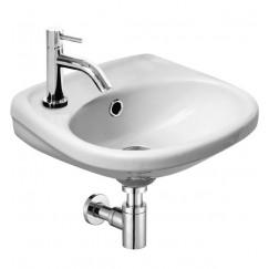 L'aqua Wastafel-/fonteinset athene wit keramiek 12x30x35cm, compleet met verchroomde kraan en sifon