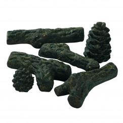 Open haarden toebehoren fun-fire keram,houtblokken