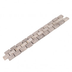 Trio brick marmer antiek listello 4.0x23.5cm, beige