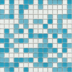 Mozaiek a11/32/33 mix wit/bl, 2x2cm