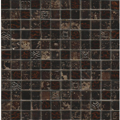 Mozaiek bo,002 dark brown mix 29,5x29,5