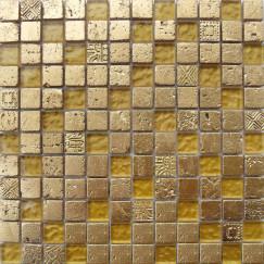 Mozaiek bo,006 gold mix 29,5x29,5